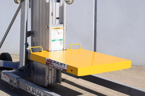 DUCT LIFT PLATE ATTACHMENT