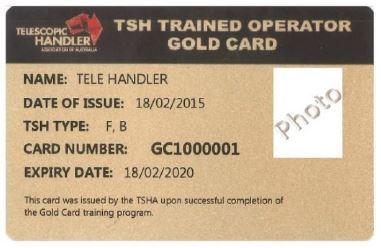 Telehandler Gold Card